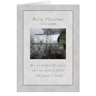 Cabine de Milou de Noël dans la carte de Noël en