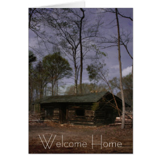 Cabine de retraite maison bienvenue cartes de vœux
