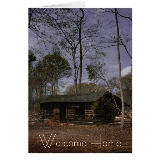Cabine de retraite, maison bienvenue cartes de vœux
