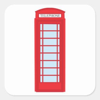 Cabine de téléphone de Londres Autocollant Carré