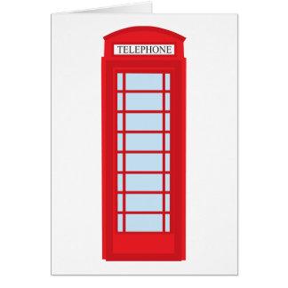 Cabine de téléphone de Londres Cartes De Vœux