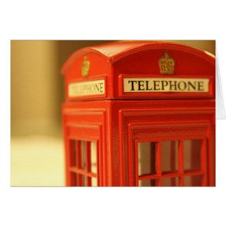 Cabine de téléphone rouge cartes de vœux