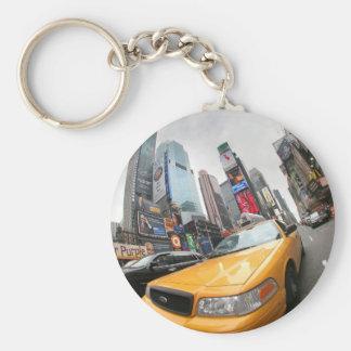 Cabine jaune de New York City Porte-clés