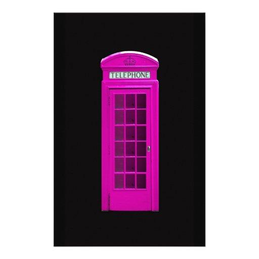 Cabine t l phonique rose de londres papeterie zazzle - Cabine telephonique anglaise a vendre ...