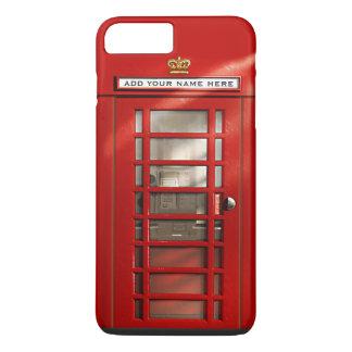 Cabine téléphonique rouge britannique drôle coque iPhone 7 plus