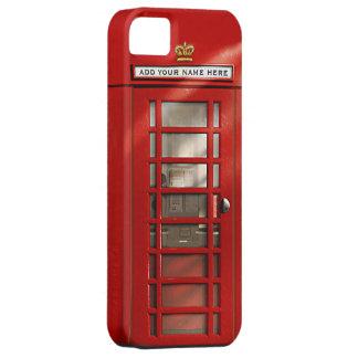 Cabine téléphonique rouge britannique personnalisé coque Case-Mate iPhone 5