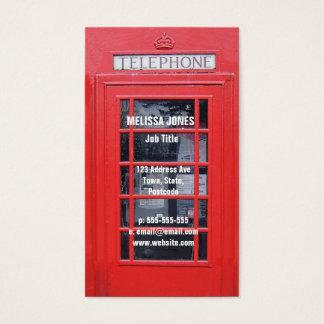Cabine téléphonique rouge de Londres Cartes De Visite
