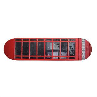 Cabine téléphonique rouge de Londres Mini Skateboard 18,4 Cm