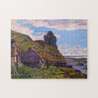 Cabines aux beaux-arts de Sainte-Adresse Monet Puzzle