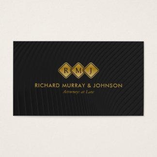 Cabinet juridique créatif de monogramme élégant cartes de visite