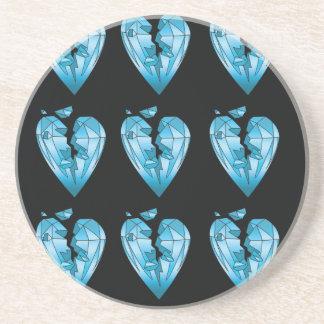 caboteur criqué bling bling de diamant dessous de verre en grès