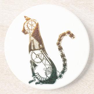 Caboteur de chat de Steampunk Dessous De Verres
