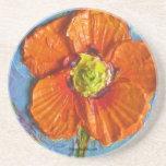 Caboteur orange du pavot de Paris Dessous De Verre