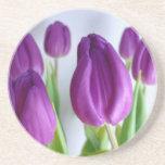 Caboteur pourpre de tulipe dessous de verre