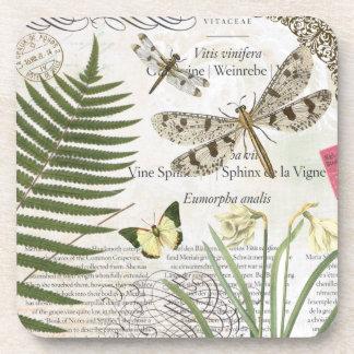 Caboteur vintage de libellules sous-bocks