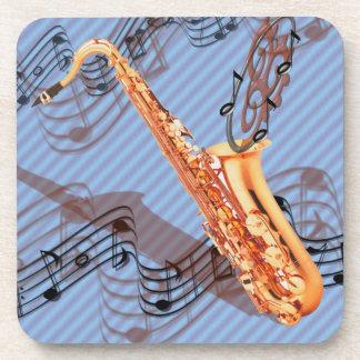Caboteurs abstraits de saxophone sous-bock