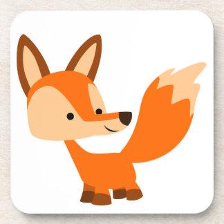 Caboteurs amicaux mignons de Fox de bande dessinée Sous-bocks