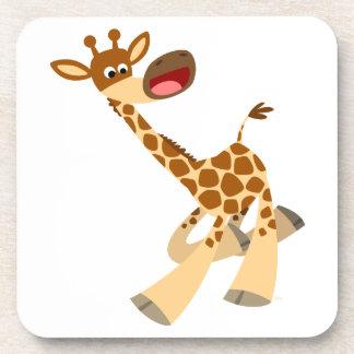 Caboteurs chevauchants de liège de girafe de bande dessous-de-verre