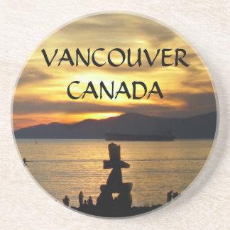 Caboteurs de coucher du soleil de Vancouver de cab Dessous De Verre