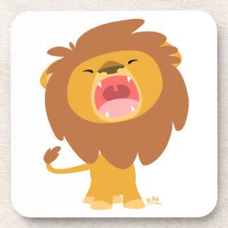 Caboteurs d'hurlement de lion de bande dessinée mi dessous-de-verre