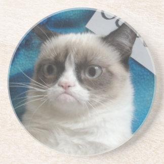 Caboteurs grincheux de chat dessous de verre