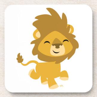Caboteurs heureux de lion de bande dessinée sous-bock