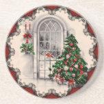 Caboteurs vintages de fenêtre de Noël Dessous De Verre