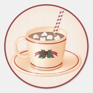 Cacao chaud 1 de Noël - autocollants de vacances