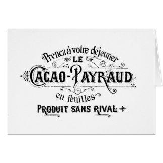 Cacao français vintage - annonce de Payraud Cartes