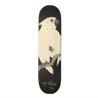 Cacatoès japonais vintage de beaux-arts skateboards personnalisés