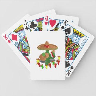 Cactus de fiesta avec des poivrons de guitare et cartes à jouer