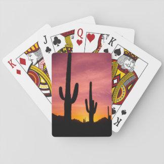 Cactus de Saguaro au lever de soleil, Arizona Jeu De Cartes