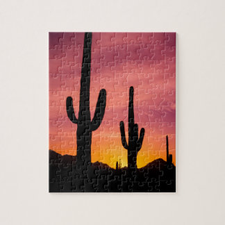Cactus de Saguaro au lever de soleil, Arizona Puzzle