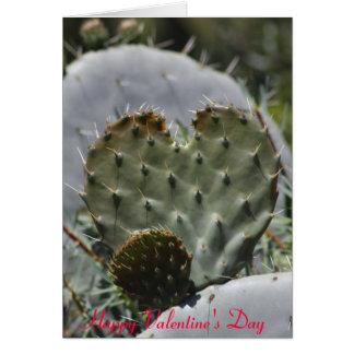 Cactus de Saint-Valentin Carte De Vœux
