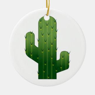 Cactus - Emoji Ornement Rond En Céramique