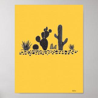Cactus et affiche jaunes de Succulents Posters