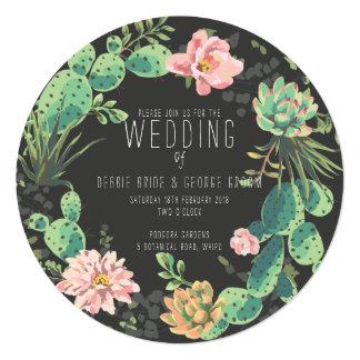 Cactus et invitations succulentes, mariage de