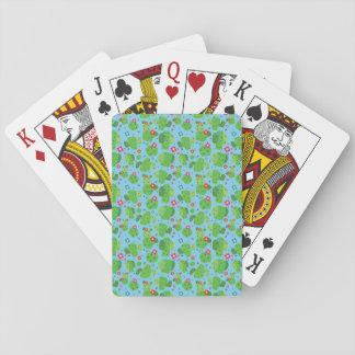 Cactus je cartes de jeu d'extérieur (bleu) - jeu de cartes