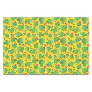 Cactus j'extérieur (jaune) - papier de soie de