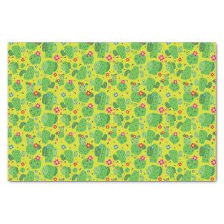 Cactus j'extérieur (vert) - papier de soie de soie