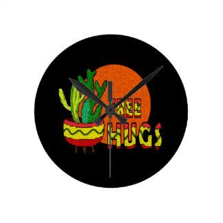 Cactus - libérez les étreintes horloge ronde