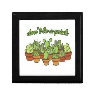 Cactus Petite Boîte À Bijoux Carrée