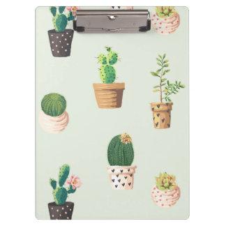 Cactus succulent mignon romantique sur l'arrière - porte-bloc