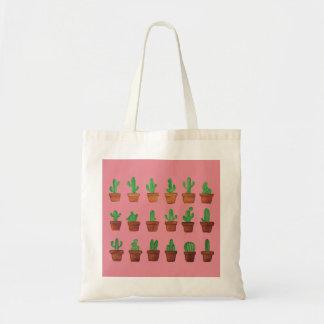 Cactus sur l'arrière - plan rose tote bag