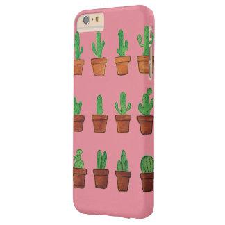 Cactus sur le cas rose de téléphone coque iPhone 6 plus barely there