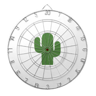 Cactus vert heureux en été rose cibles de fléchettes