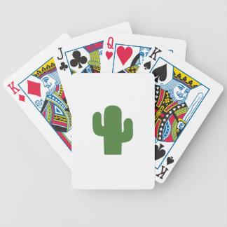 Cactus vert heureux en été rose jeu de cartes