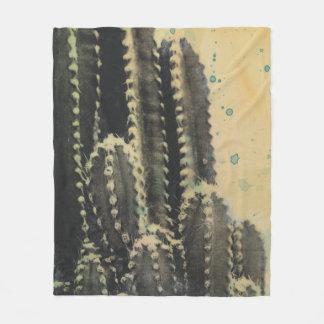 Cactus vert sur l'arrière - plan jaune couverture polaire