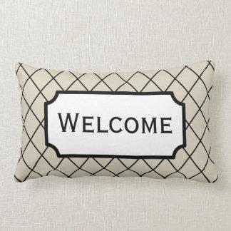 Cadeau bienvenu de carreau de chambre d'amis coussin rectangle