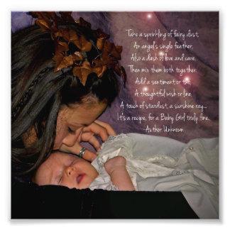 """Cadeau carré d'impression de photo de """"bébé"""" de fé"""